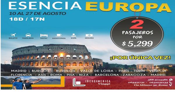 ESENCIA EUROPA - Agenzia di Viaggi Iberoamerica