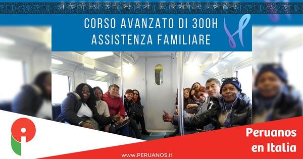 Roma, presentación del curso avanzado de asistencia familiar - Peruanos en Italia