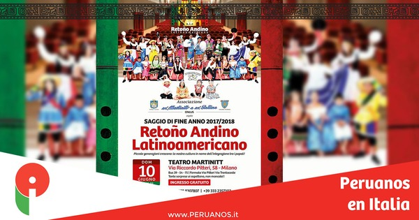 Milán, espectáculo de fin de curso del grupo Retoño Andino - Peruanos en Italia