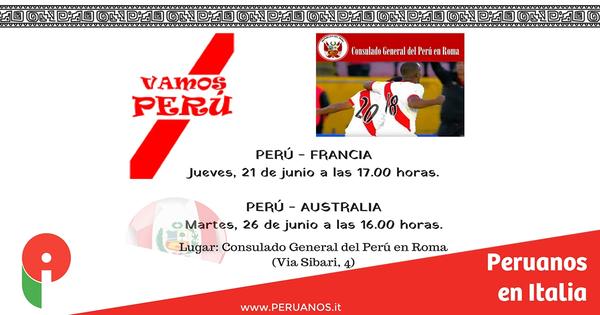 Roma, Apoyemos a la Blanquirroja en el Consulado - Peruanos en Italia