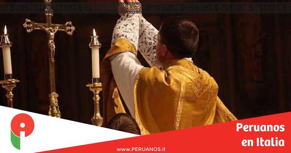 Génova, Misa de Fiestas Patrias - Peruanos en Italia