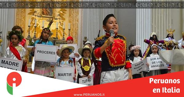 Roma,  Misa de acción de gracias por Fiestas Patrias - Peruanos en Italia