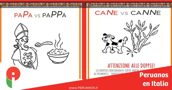 Aprender italiano: ¡cuidado con las doble consonantes! - Peruanos en Italia