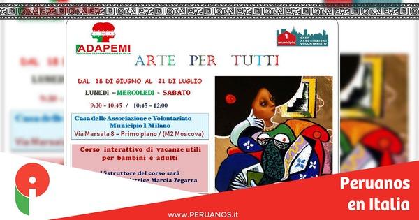 Milán, arte para todos con la pintora Marcia Zegarra - Peruanos en Italia
