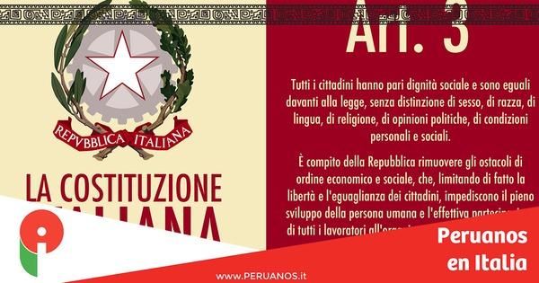 La Constitución italiana en castellano - Peruanos en Italia