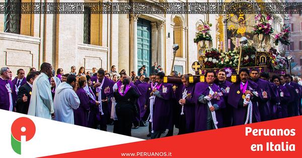 Roma, este domingo será la primera salida del Señor de los Milagros - Peruanos en Italia