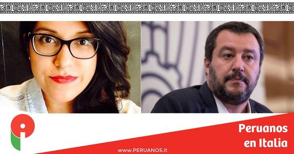 Ciudadanía, Elizabeth le escribe a Salvini: Me siento traicionada - Peruanos en Italia
