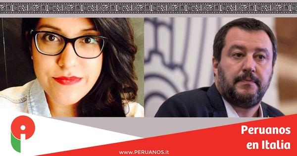 Elizabeth le responde a Salvini: no se golpea a 300'000 italianos para educar a 100 - Peruanos en Italia