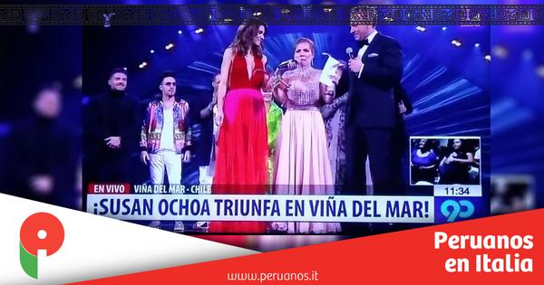 Peruana Susan Ochoa triunfa con dos Gaviotas de Plata en el Festival Viña del Mar - Peruanos en Italia