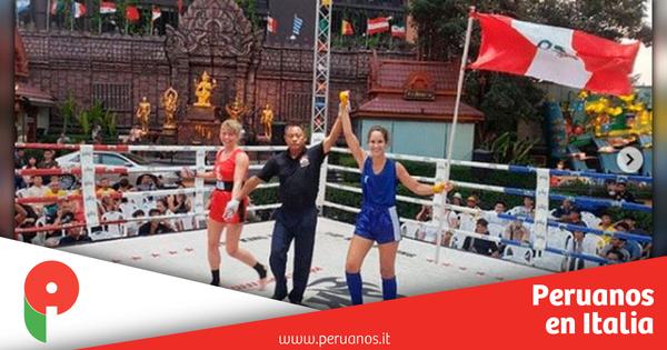 Peruana Fiorella Conroy se proclamó Campeona Mundial de Muay Thai - Peruanos en Italia